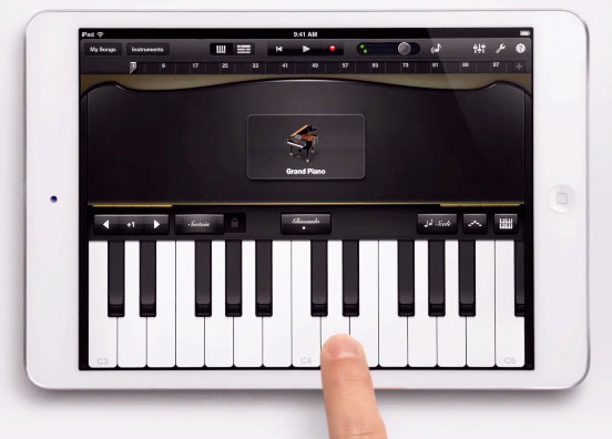 Can you learn to play piano on an iPad or iPad mini