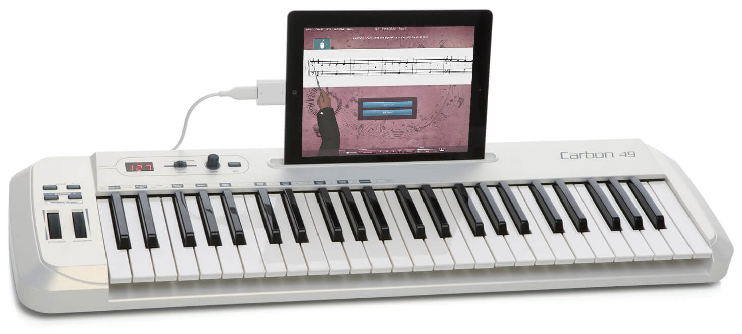 MIDI kbrd white with iPad