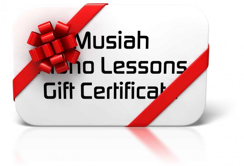 Piano Lessons Gift Certificate