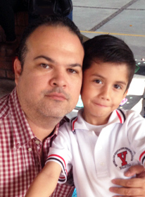 Musiah piano student Alejandro and son
