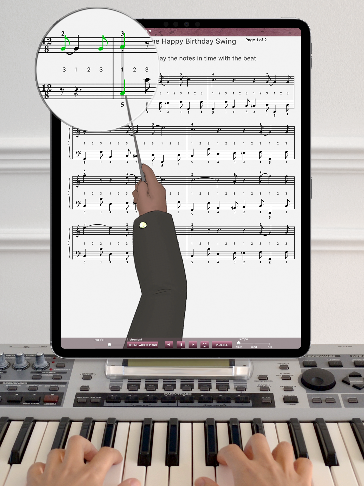 A.I. piano lessons for iPad