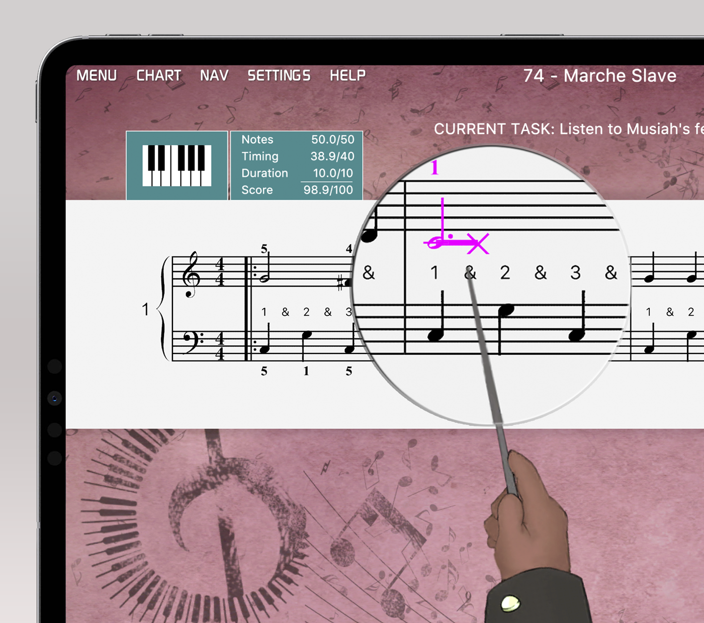 Musiah helps you correct timing issues