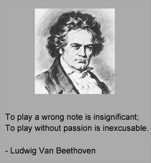 Beethoven with quote